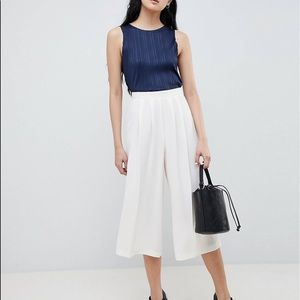 ASOS DESIGN TAILORED LARGE PLEATED CULOTTES